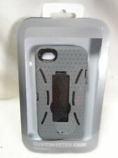 Iphone 5 Custom Fitted Case Gray with Kickstand