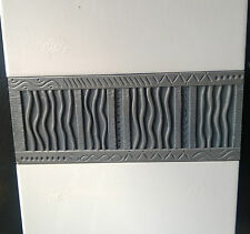 TAU AZTECA BORDER TILES / LISTELS 10 X 25CM RRP £8.00 EACH.OUR PRICE ONLY £1.00