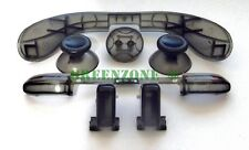 CUSTOM XBOX 360 CONTROLLER CLEAR BLACK MOD KIT. THUMBSTICKS, TRIGGERS, DPAD