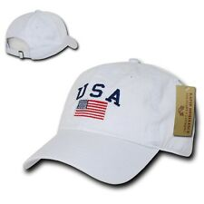 US USA American Flag Patch Baseball Cap Caps Hat Hats Washed Cotton Polo Style