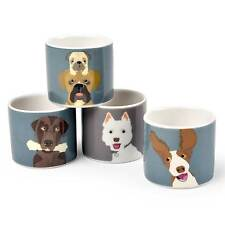 The Rabble Dog China Eggcups - Creaturewares Series by Burgon and Ball