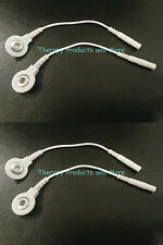 (4) Electrode Lead Wire PIN-TO-SNAP ADAPTERS Compatible w/TENS 7000 & 3000 Units