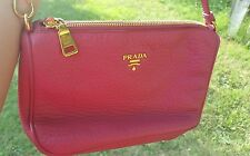 Genuine Prada Small Shoulder Handbag - Pink