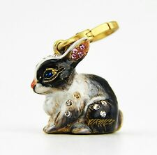 Jay Strongwater Hugh bunny charm 18K gold plated swarovski crystals new in box