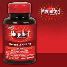 Schiff Mega Red Omega-3 Krill Oil Pure Antarctic 350 mg MegaRed 130 Softgels