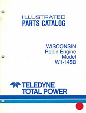 WISCONSIN ROBIN HD ENGINE W1-145B  PARTS  MANUAL