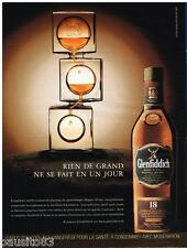 PUBLICITE ADVERTISING 095 2009  GLENFIDDICH scotch whisky 18 ANS  d'age
