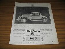 1930 Print Ad The DeSoto Straight Eight Automobile Chrysler Motors