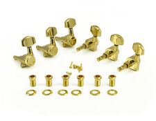 Kluson Locking Tuners, 3x3 - Large Metal Button, Gold KL-3801G