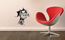 Wall Stickers Vinyl Decal Cat Cracks in Walls Modern Style ig1407