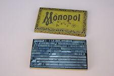 Ancienne boite métal d'ancien caractère MONOPOL BK decoration tampon encreur