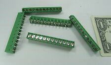 """5 Tyco 12-Position Wire to Board Connector Terminals PCB 1-282837-2 .200"""" 5.08MM"""