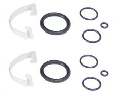 Air Springs Bags Suspension Solenoid Valve Seal Gasket O-Rings Set with Clips