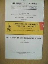 Shakespeare Memorial Theatre Com.- THE TRAGEDY OF KING RICHARD 2ND~W Shakespeare