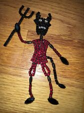 VERY RARE large BETTINA VON WALHOF DEVIL TREMBLER PIN