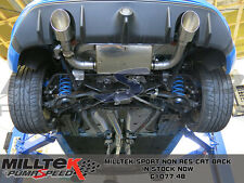Ford focus rs MK3 2.3 ecoboost milltek non resonated cat back exhaust SSXFD183