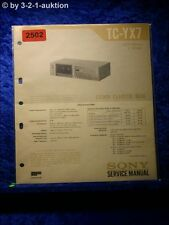 Sony Service Manual TC YX7 Cassette Deck  (#2502)