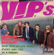 "V.I.P.'S ""STRAIGHT DOWN TO THE BOTTOM"" ORIG FR EP 1966"