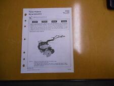 1977 HONDA F500 Tiller Factory Setup Instructions