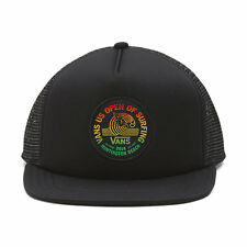 VANS - US OPEN 2016 Trucker Hat (NEW) Black Snapback Cap 420 RASTA Free Shipping