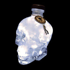 Crystal Head Vodka Frosted 700ml 70cl Upcycled Skull LED Bottle Lamp Light