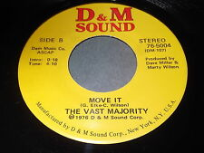 The Vast Majority: Move It / Take It 45 - D&M Sound - Disco Boogie Funk