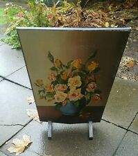 Antique Hand Painted  Wooden Fire Guard/Screen