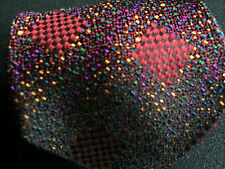 Missoni Hand Made Italy Mens Silk Necktie Multi Color Abstract Woven Neck Tie S