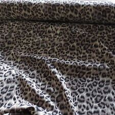 Leopard Print Polyester Dress Fabric - 150cm Wide - £2.50 per M - Free P&P