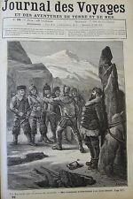 JOURNAL DES VOYAGES N° 98 de 1879 AMERIQUE DU NORD EXPLORATEUR PRISONNIER INDIEN