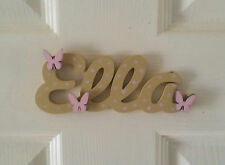 Personalised Children's Wooden Name Plaques / Bedroom Door Sign / Butterflys#124