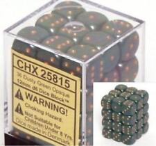 Chessex Dice d6 Sets Dusty Green w/ Copper Spots 36 12mm Six Sided Die CHX 25815