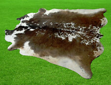 "New Cowhide Rugs Area Cow Skin Leather (63"" x 55"") Cow hide SA-483"