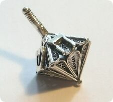 "Sterling Silver Filigree Dreidel - Adorable (Made in Israel) 1.25"""