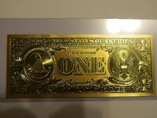 .999 24k Gold USA 1 Dollar Bill/Banknote--No Reserve Auction NR