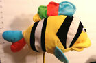 "Puppet, Fish, Plush 15"" Colorful,Makes Bubble Sound, Mills Trading Co.,CA"