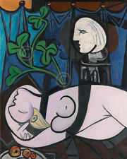ART PRINT Nude, Green Leaves and Bust, 1932 by Pablo Picasso 11x14 Cubism Poster