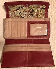 TIGNANELLO Red TRIFOLD Women's/Lady Wallet