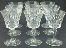 "Set of 9 French Baccarat Crystal BUCKINGHAM 6 1/4"" Tall Wine Glasses Goblets"