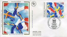 FRANCE FDC - 2871 1 RELATIONS FRANCE SUEDE - 18 Mars 1994 - LUXE sur soie