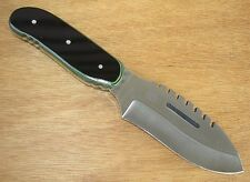 NEW CUSTOM BUCK TOPS KNIFE DROP POINT BOWIE BLADE WITH 184 STYLE SAW TEETH G-10