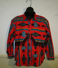Women's MINE & BILLS Red Long Sleeve Western Shirt Size M NWT