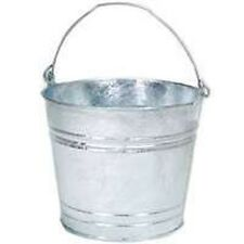 LOT OF (6) 14 HOT DIPPED GALVANIZED METAL 14 QT WATER BUCKET PAIL TUB 14 6231401