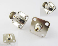BNC Female Jack w/ 4 holes Flange Panel Chassis Mount Coaxial Solder Connector