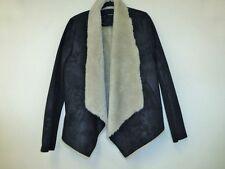 THE KOOPLES noir faux shearling veste noire taille l uk 12