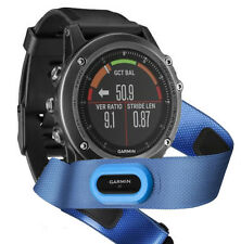 Garmin fenix 3 HR Sapphire GPS Watch Bundle w/ HRM Swimming Strap Free Shipping