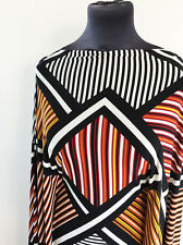 Geometric Op Art Chevron Stripe Print Stretch Jersey  Dressmaking Fabric