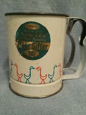 Vtg Androck Flour Sifter W/Ducks:With Original Label