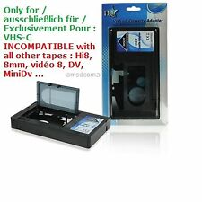 VHS-C VHSC VHS Adaptateur cassette K7 video Camescope Magnetoscope adapter
