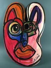 Peter Keil Abstract Modern Double Face Painting on Palette